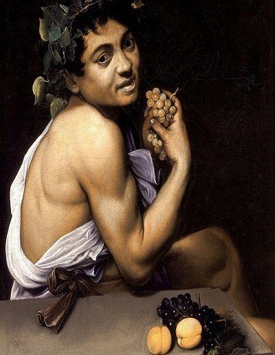 Baco enfermo- Caravaggio (1594)