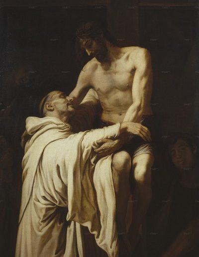 Cristo abrazado a San Bernardo - Francisco_Ribalta (1625)