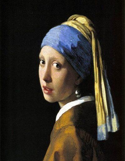 La joven de la perla  J. Vermeer (1665)