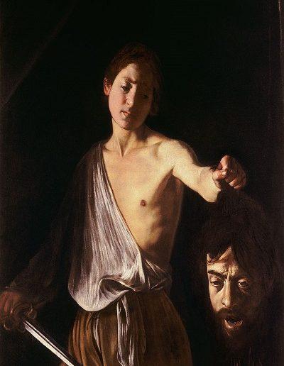 David con la cabeza de Goliath -Caravaggio (1610)