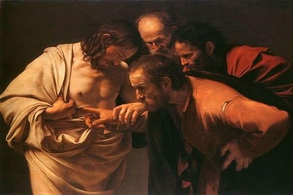 La incredulidad de San Tomás- Caravaggio (1602)