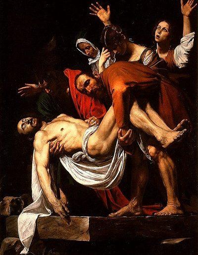 Santo entierro- Caravaggio- (1604)