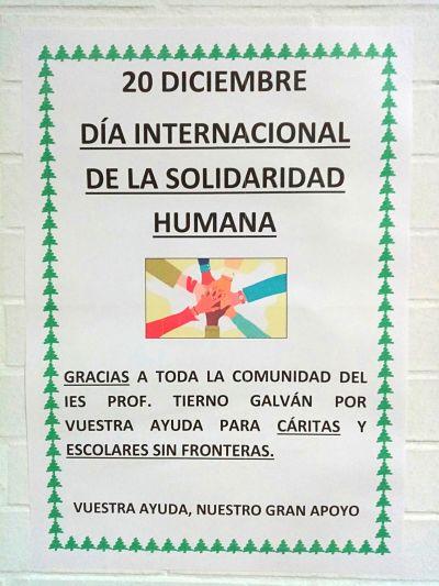 Diciembre, mes solidario